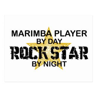 Marimba Rock Star by Night Postcard
