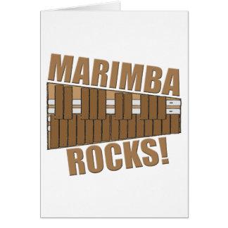 Marimba Rocks! Card