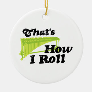 Marimba - That's How I Roll Double-Sided Ceramic Round Christmas Ornament