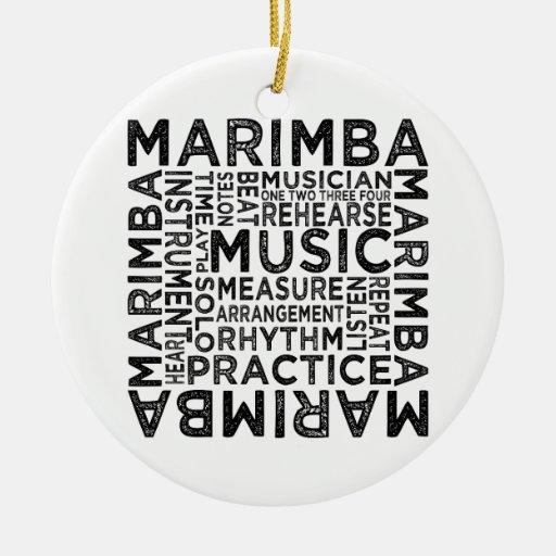 marimba typography ceramic ornament zazzle