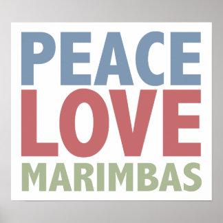 Marimbas del amor de la paz póster