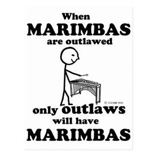 Marimbas Outlawed Postcard