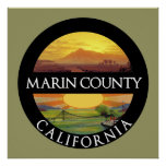 Marin County California Poster