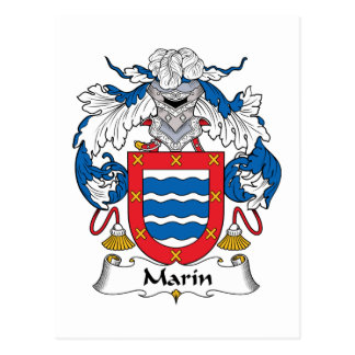 Marin Family Crest Postcard