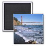 Marin Headlands, Golden Gate Bridge; San 2 Inch Square Magnet