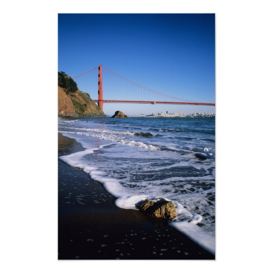 Marin Headlands, Golden Gate Bridge; San Poster