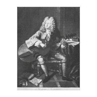 Marin Marais, 1704 Canvas Print