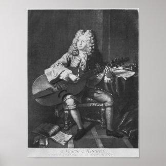 Marin Marais, 1704 Poster