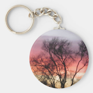 Marin Midwinter Sunset - Hot Colors Cold Landscape Key Chains