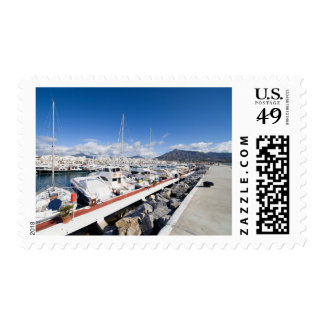 Marina and Pier in Puerto Banus near Marbella Postage Stamp