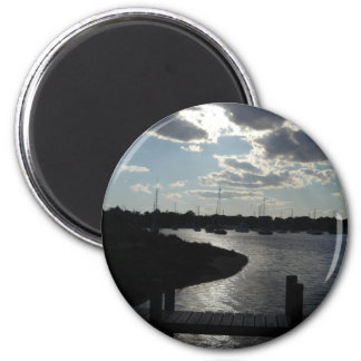 Marina at Late Day 2 Inch Round Magnet