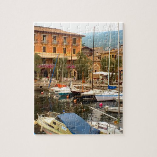 Marina at Menaggio Lake Como Jigsaw Puzzle