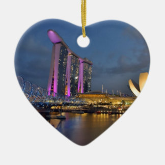Marina Bay Sands luxury hotel Singapore Ceramic Ornament