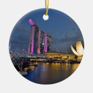 Marina Bay Sands luxury hotel Singapore Ceramic Ornament