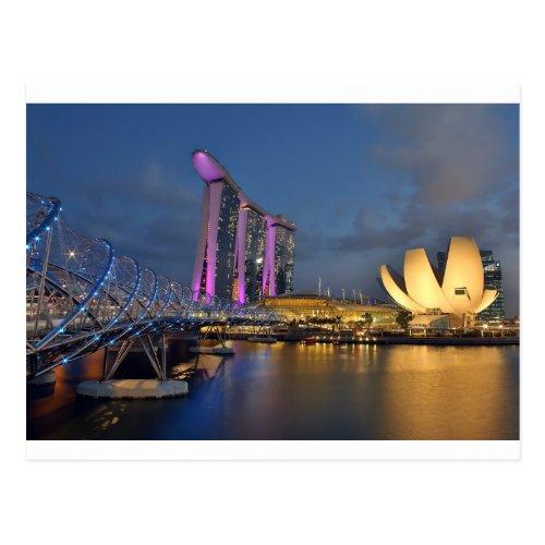 Marina Bay Sands luxury hotel Singapore Postcard