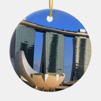 Marina Bay Sands Singapore Ceramic Ornament