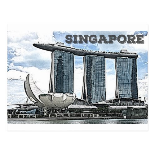 Marina Bay Sands _ Singapore Postcard