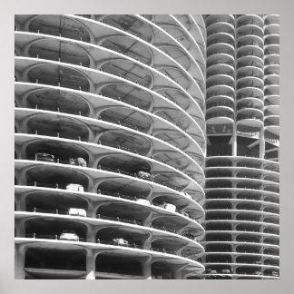 Marina City Chicago Poster