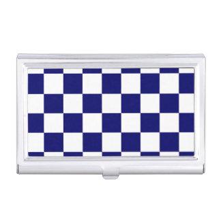 Marina de guerra a cuadros y blanco caja de tarjetas de presentación