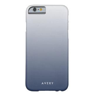 Marina de guerra ahumada y pendiente gris Ombre Funda Barely There iPhone 6