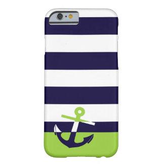 Marina de guerra/ancla de la verde lima funda de iPhone 6 slim