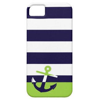 Marina de guerra/ancla de la verde lima iPhone 5 protector