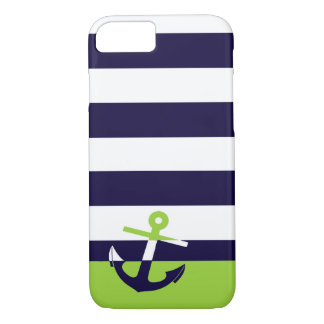 Marina de guerra/ancla de la verde lima funda iPhone 7