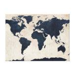 Marina de guerra apenada mapa del mundo impresiones de lienzo