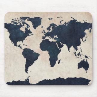 Marina de guerra apenada mapa del mundo mouse pad