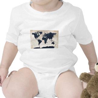 Marina de guerra apenada mapa del mundo trajes de bebé