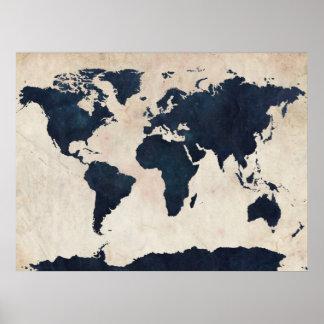 Marina de guerra apenada mapa del mundo póster