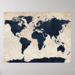 Marina de guerra apenada mapa del mundo posters