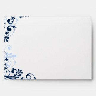 Marina de guerra, azul, sobres que se casan floral