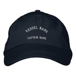 Marina de guerra bordada buque del casquillo de lo gorras de beisbol bordadas