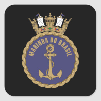 """Marina de guerra brasileña "" Calcomanías Cuadradas Personalizadas"