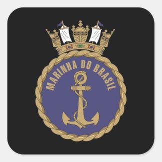 """""""Marina de guerra brasileña """" Pegatina Cuadrada"""