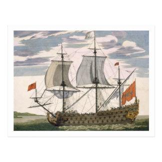 Marina de guerra británica: una nave de primer tarjeta postal