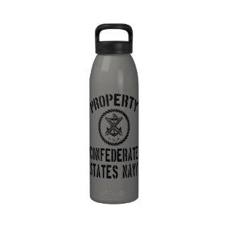Marina de guerra confederada de los estados de la  botella de agua reutilizable