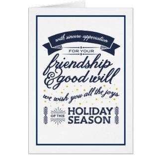 Marina de guerra de la amistad tarjeta de felicitación