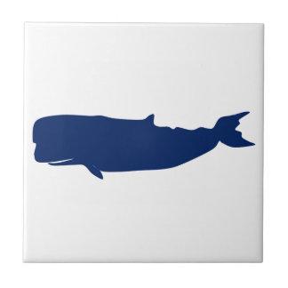 Marina de guerra de la ballena azulejo cuadrado pequeño