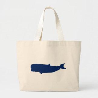 Marina de guerra de la ballena bolsa tela grande