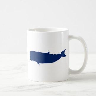 Marina de guerra de la ballena taza de café