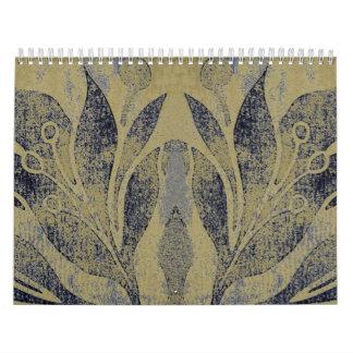 Marina de guerra de la flor de Lotus de la marina Calendarios De Pared
