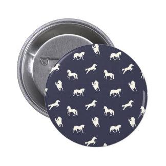 Marina de guerra de la impresión del caballo pins