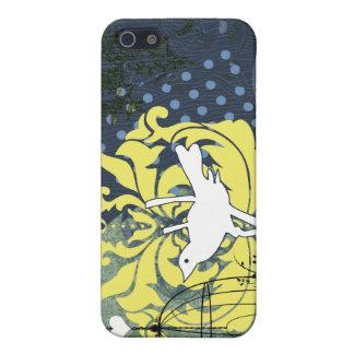 Marina de guerra de la jaula de pájaros del vintag iPhone 5 protector