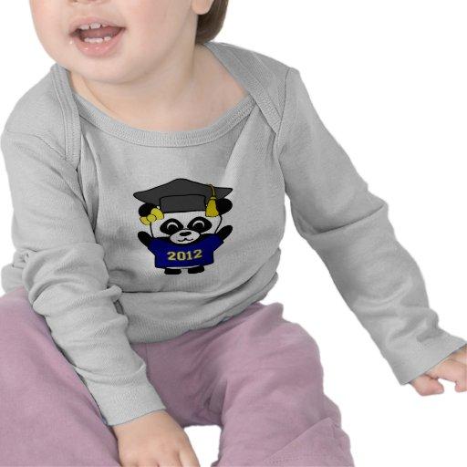 Marina de guerra de la panda del chica y graduado  camisetas