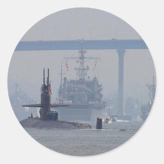 Marina de guerra de las naves nucleares de los etiqueta redonda