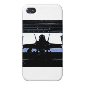 Marina de guerra del avispón FA18 iPhone 4 Carcasas