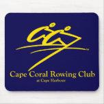 Marina de guerra del logotipo del club de remo del alfombrilla de ratón