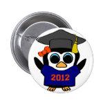 Marina de guerra del pingüino del chica y graduado pins